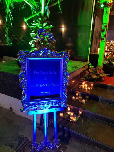 50th wedding Anniversary of a Young Couple with the Antique theme.