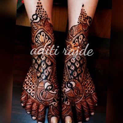 radhika dige's bridal mehendi