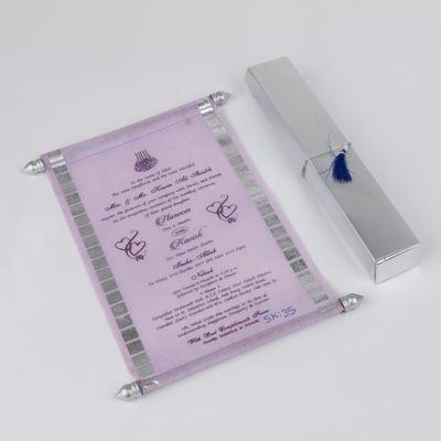 Scroll Wedding Invitation Cards
