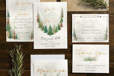 Watercolour Forest Wedding Suite