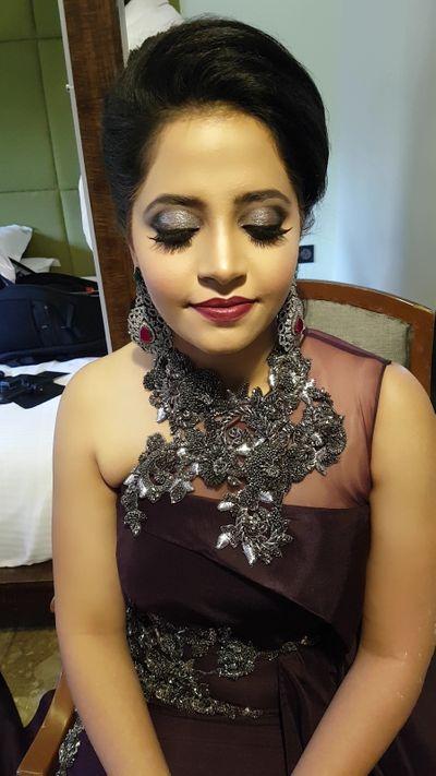 Ring Ceremony Makeup for Bride Maahi Narsinghani