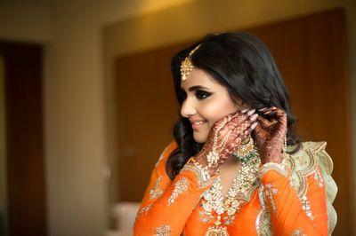 Sangeet / Mehendi Makeup for US Bride Tanvi Anandpara