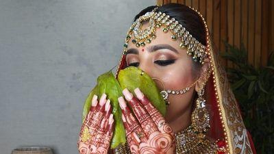 Bengali bride getting married in Punjabi style