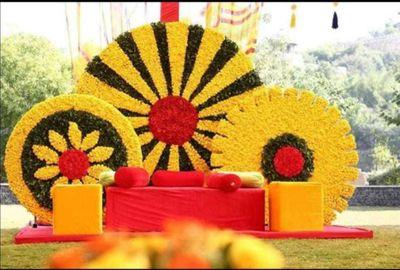 Theme Wedding Yellow colour