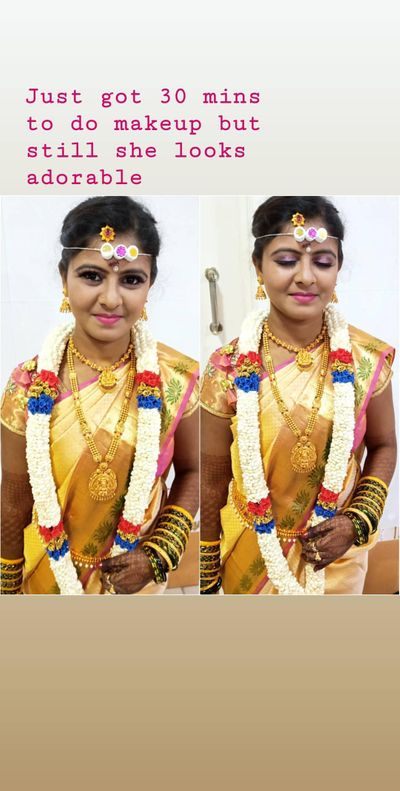 Pallavi Bridal (Pre-wedding, Reception and Simple Muhurtham Look)