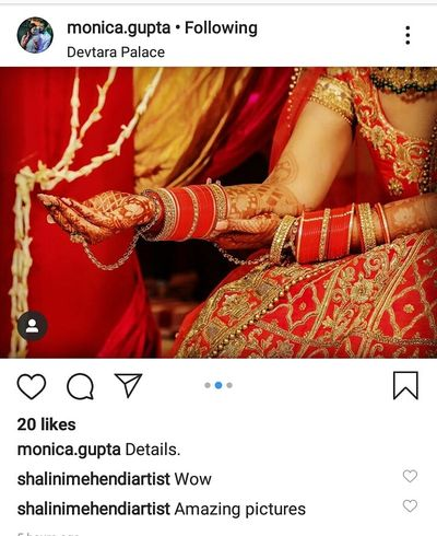 monica gupta bridal mehendi