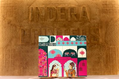 indian classical boxed invites