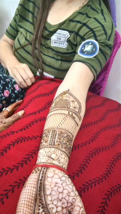 Deepika bridal mehendi at dwarka on 28 nov 2019