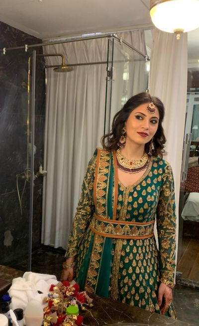 Ambika's makeup for her brother's wedding