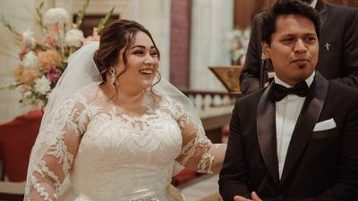 Anmol - Christian & Indian bridal look