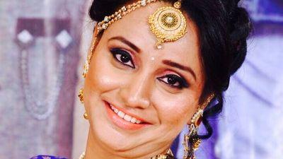 Mom as bride for Mundan ceremony