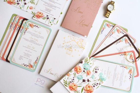 Photo of floral vintage summer invites