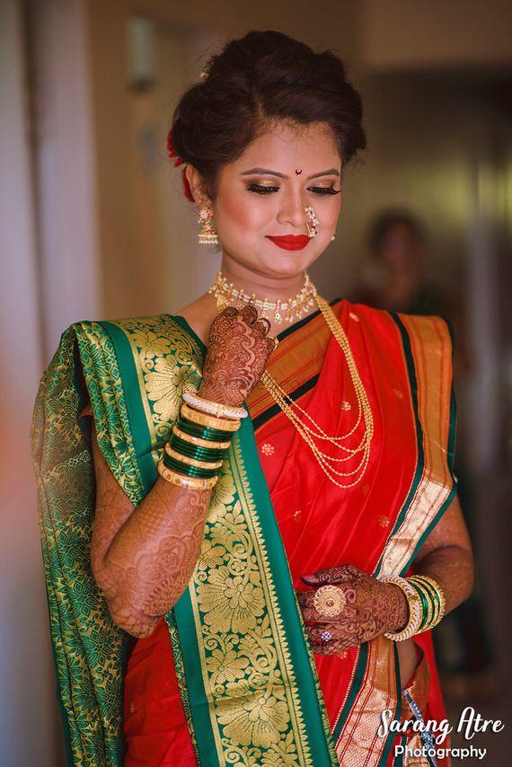 Photo of Marathi bride portrait