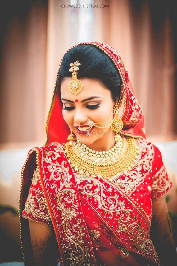 Photo of gold choker bridal jewellery