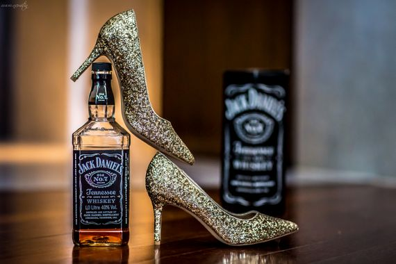 Photo of glittery shoes