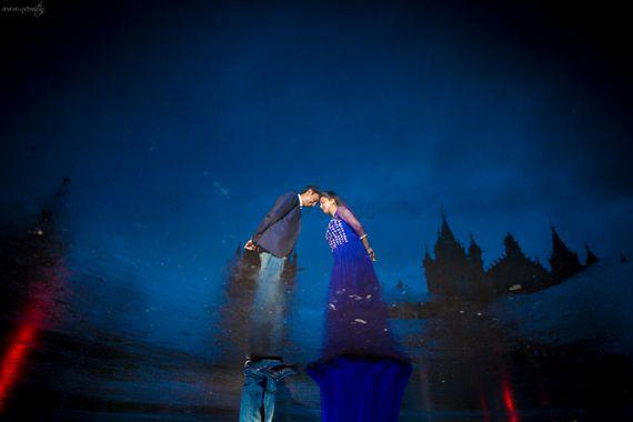 Photo of Illusion Pre Wedding Shoot with Blue Theme