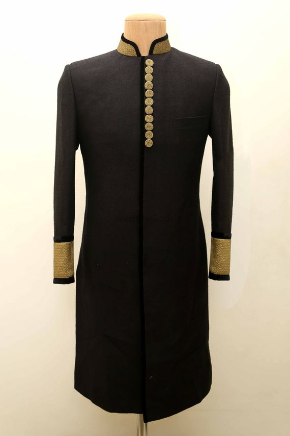 Photo of High neck bandhgala with full sleeves