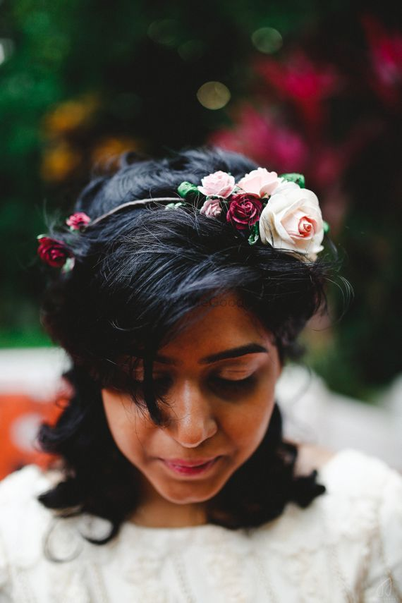 Photo of flower hair band