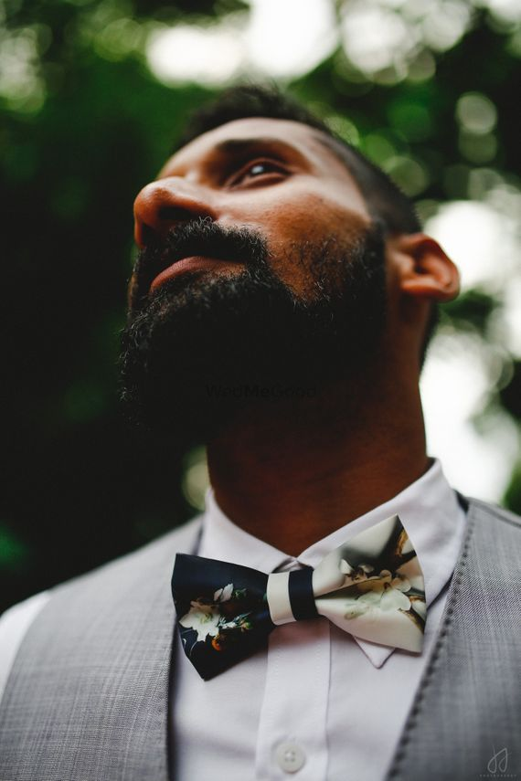Photo of floral bow tie