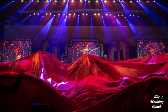 Photo of Dramatic Onstage Performance for Sangeet