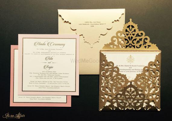 Photo of gold laser cut design