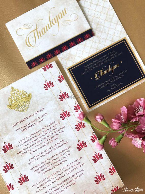 Photo of Classy simple wedding invite