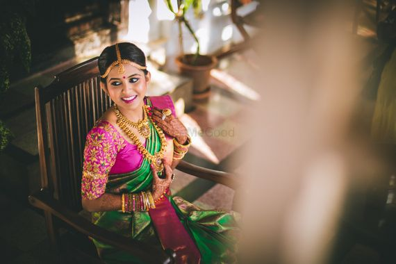 Photo of Candid south indian bride shot