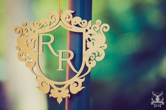 Photo of Monogramed Frame Personalised Wedding Decor