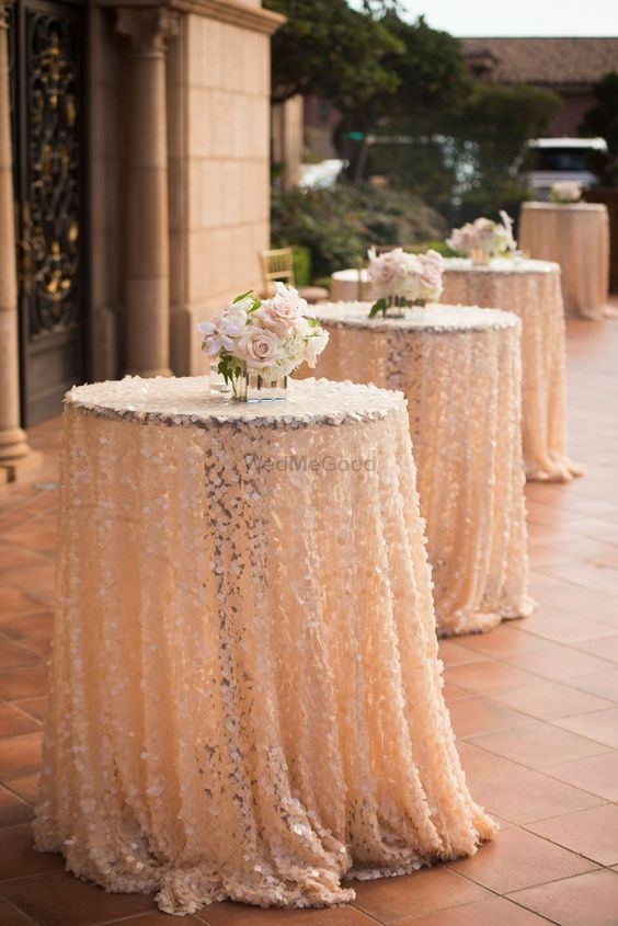 Photo of Blush Pink Floral Table Cloth
