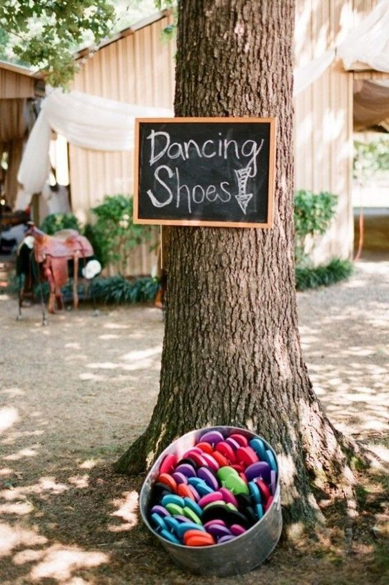Photo of Dancing Shoes in Basket for Guests