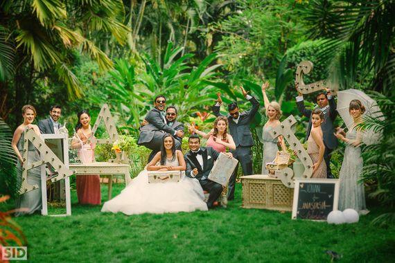 Photo of stunning set at christian wedding