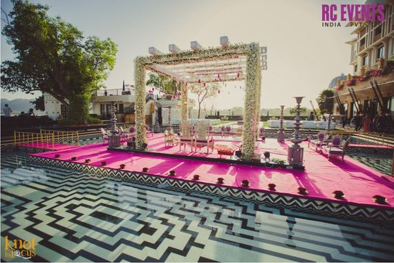 Photo of white mandap