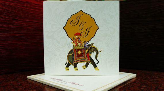 Photo of elephant wedding invite