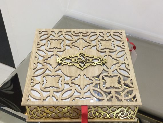 Photo of beige and gold box