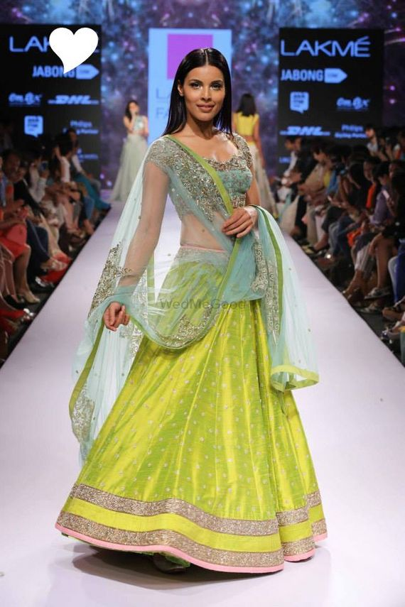 Photo of lime green lehenga