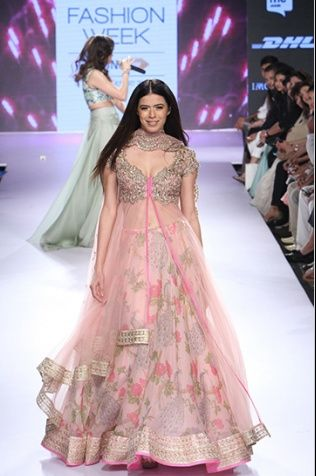 Photo of layered anarkali lehenga