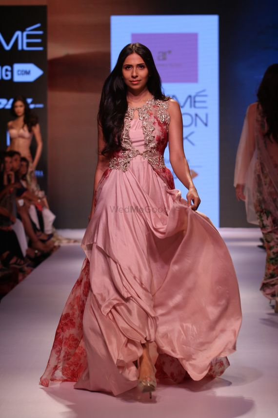 Photo of satin gown by Anushree Reddy