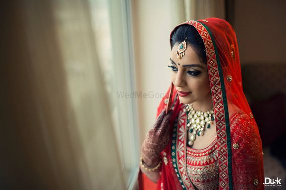 Photo of red gota patti blouse