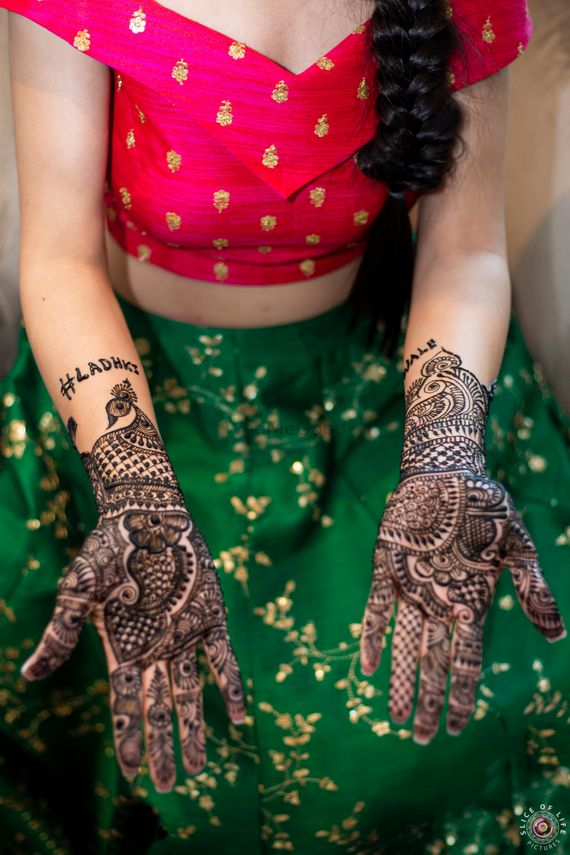 Photo of traditional mehndi design for hands