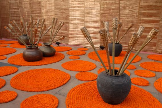 Photo of marigold mats