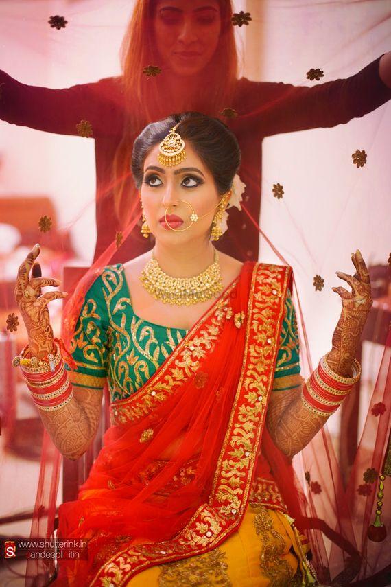 Photo of Bride Wearing Dupatta Shot