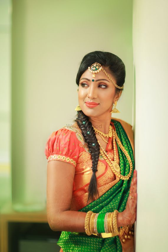 Photo of South Indian Bride with Fish Tail Braid