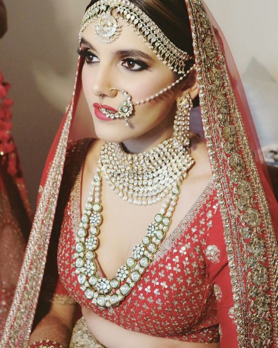Photo of Stunning polki and jadau bridal jewellery with long raani haar