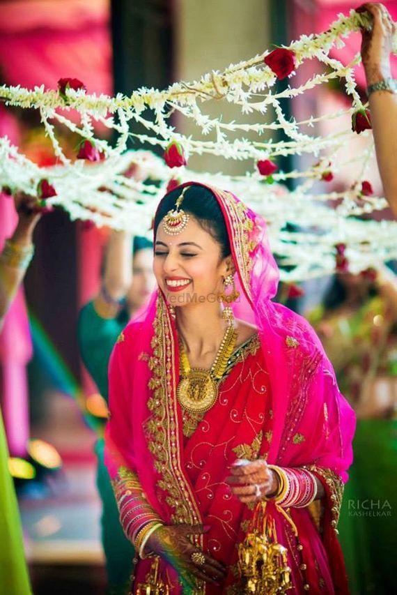Photo of bride entrance photo