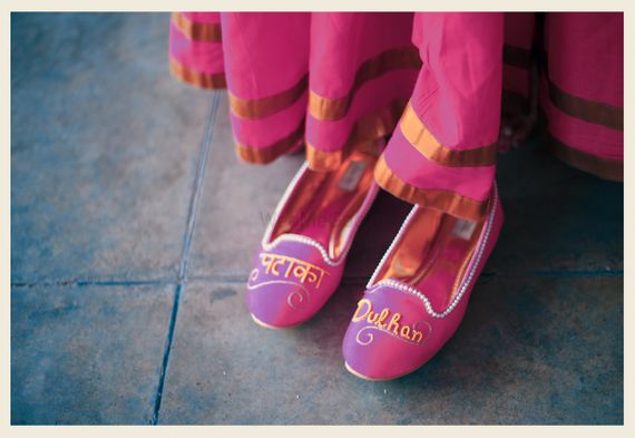 Photo of Quirky bridal shoes with pataka Fulham written
