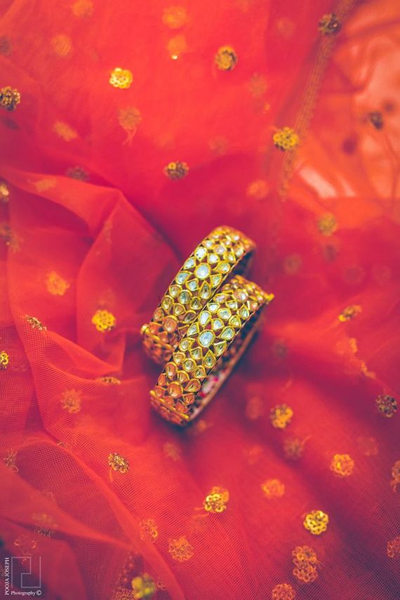 Photo of Gold Kundan Work Bangles