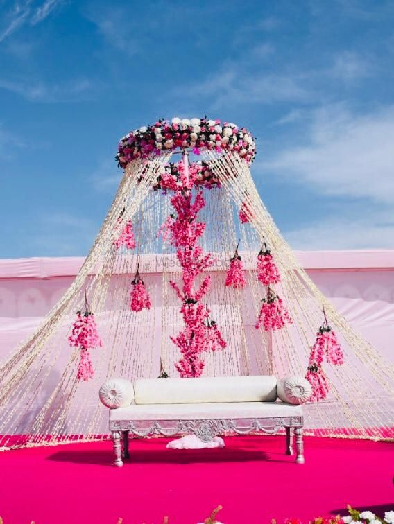 Light Pink Wedding Decor Photo Stage Decor