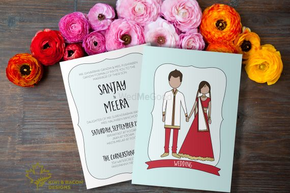 Hindu Wedding Invitation Card: Portfolio Of Kiwi & Bacon Designs