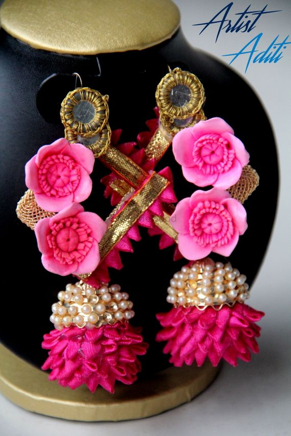 Photo of Floral or Gota jewellery for Mehendi