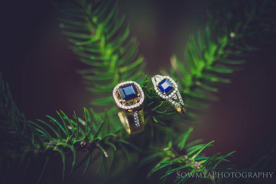 Photo of diamond studded engagement rings